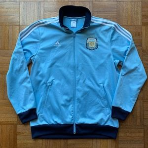 Men's Adidas Argentina Messi 10 Blue Zip Jacket, L